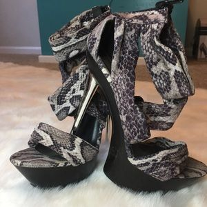 Platform heels. Size 7. Used a handful of times.